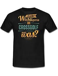 Sportart Crossgolf Es Gibt Wichtigeres Als RAHMENLOS Retro Petrol Hobby Geschenk Männer T-Shirt von Spreadshirt®