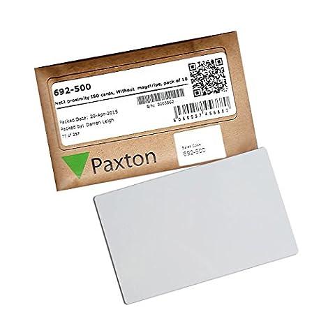 692–500–Paxton NET2proximité ISO Cartes avec pas de Magstripe Lot de 10