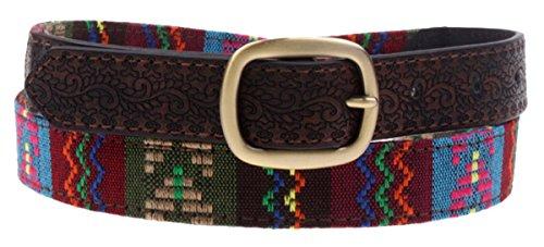 Aivtalk – Cinturón de Bordado Folklórico con Hebilla de Aleación Waistband  para Mujer Chica 4b6e44fe3574
