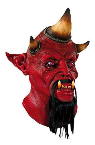 GHOULISH Scary Halloween Latex Kopf-, Hals- und Gesichtsschutz Barbu gruselige Party - Kostüme Ghoulish