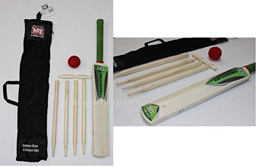 Kids, Kinder Junior Cricket Set. Holz Beach Garden Cricket Bat & Ball Set.