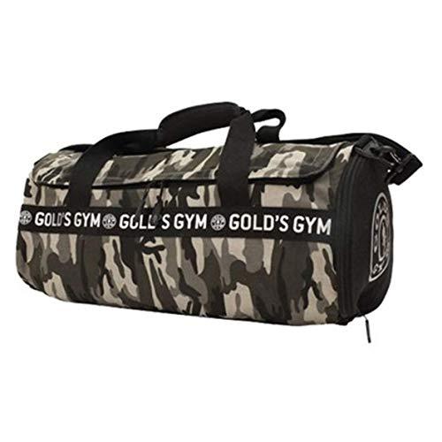 Gold\'s Gym 2017 Grande Deportes Bolsa Lona Gimnasio Hombre Bolso/Bolsa de Viaje - Camuflaje Barril Bolso