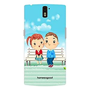 HomeSoGood Blushing In Love Blue 3D Mobile Case For OnePlus One (Back Cover)