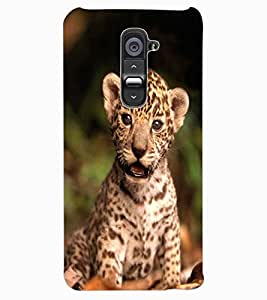 ColourCraft Cute Cub Design Back Case Cover for LG G2