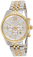 Idea Regalo - Michael Kors Orologio Cronografo Quarzo Uomo con Cinturino in Acciaio Inox MK8344