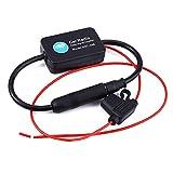 Funihut Universal Amplificateur de Signal FM Ampli d'antenne Autoradio Radio FM Antenne Signal Amplificateur pour Voiture RV 12 V Noir Amplificateur De Signal D'antenne Radio Adaptateur