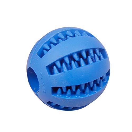 Hundespielzeug-Kautschuk Zahnreinigungskugeln Haustier Hund-Katze-Welpen Elastizität Zähne Kugel Feeder Kauspielzeugen ()