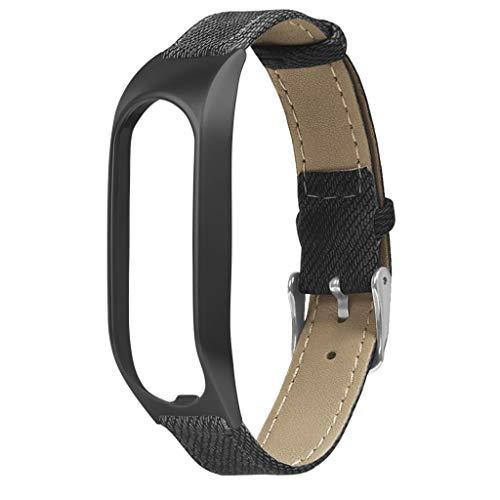 Für Tomtom Touch Armband,Denim Armbänder Uhrenarmbänder kompatibel Metallgehäuse Schnellspanner SmartWatch Schlaufe Uhrenarmband Smartwatch Ersatzarmband (Schwarz)