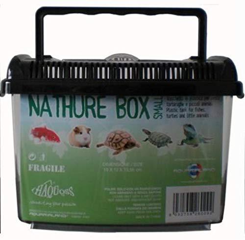 ReptiZoo 2.3.79.001 Haquoss Nature Box Small, 18X12X13.5H cm, 2.9 lt, Nero e Trasparente