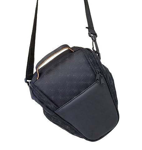 SLR-Schultertasche Kamera Tasche Case Schutz Etui in schwarz für Canon EOS 1100D 1000D 600D 700D 650D 550D 500D 450D 60D, Nikon D3100, 3200, D5100, D7000, Sony Alpha A37, A57, A65, A77, Olympus Fuji, Panasonic, Samsung, Pentax uvm. DSLR Spiegelreflexkamera von der Marke
