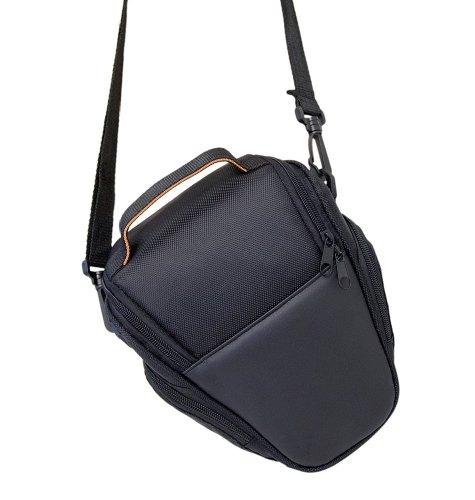 PRECORN SLR-Schultertasche Kamera Tasche Case Schutz Etui in schwarz für Canon EOS 1100D 1000D uvm (60d Canon Eos Tasche)