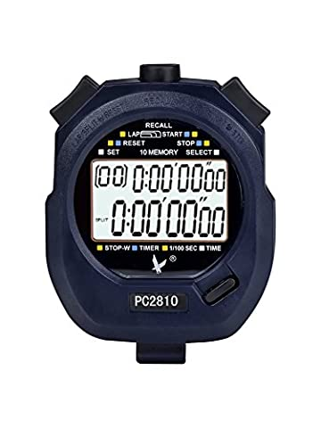 Digital Sport Stopwatch Timer with 2-Rows of 10 Memory Time