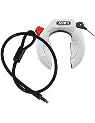 Abus 4850 amparo lH kR fahrradschloß rahmenschloß level 9–câble blanc/noir/argenté