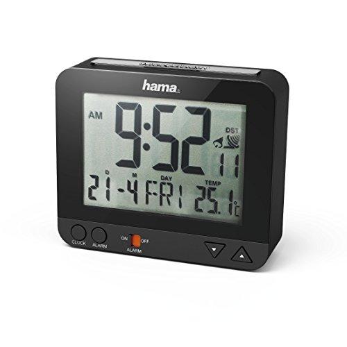Hama Funk Wecker RC550 – sensorgesteuerte Nachtlichtfunktion, Schlummerfunktion, Temperatur- und Datumsanzeige - 10