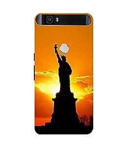 PrintVisa Designer Back Case Cover for Huawei Nexus 6P :: Huawei Google Nexus 6P (Statue Of Liberty)