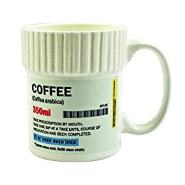 Gift Republic Pill Pot Mug Coffee, Porcelain, Multicolor