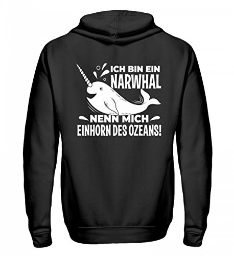 Hochwertiger Zip-Hoodie - Narwhal - Einhorn des Ozeans!