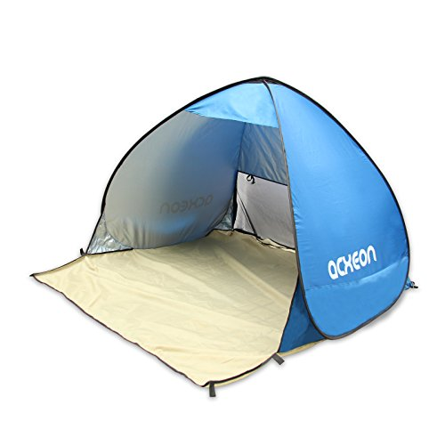 Tenda portatile instantanea coco, tenda da spiaggia, impermeabile,con protezione raggi uv, per 2-3 persone. adatta per pesca, campeggio, picnic, leggera, compatta. colore blu