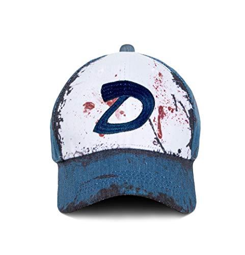 Dead Walking Kostüm Männer - Wellgift Clementine Hut Mütze Cosplay Kostüm D Logo Stickerei Tote Zombies Baseball Kappe Halloween Costume Outdoor Erwachsene Herren Damen Kleidung Zubehör