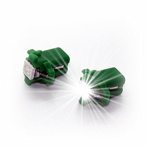 Preisvergleich Produktbild LED-Mafia 2 Stück T5 B8, 3D B8, 4d B8, 5d - Tachobeleuchtung B83d B84d B85d Cockpit Tacho Instrumenten Beleuchtung Tacho weiß Weiss rot blau grün gelb (B83d,  grün)