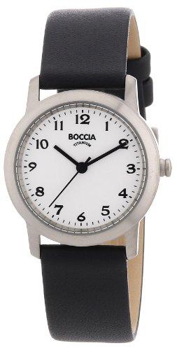 Boccia Damenuhr Analog Quarz mit Lederarmband – 3170-01 Boccia Uhren