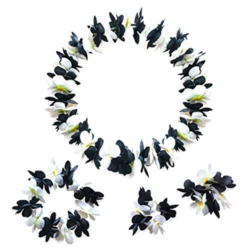 iche Blume Hawaiian Stirnband Halskette Girlande für Hawaiian Partydekorationen ()