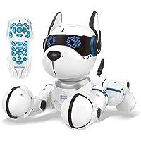 Lexibook- Power Puppy Chien Savant-Robot programmable avec télécommande, Danse, Yoga, Fonction Dressage, Chante, DOG01