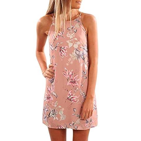DAYLIN Women Summer Off Shoulder Vest Dress Casual Sleeveless Print
