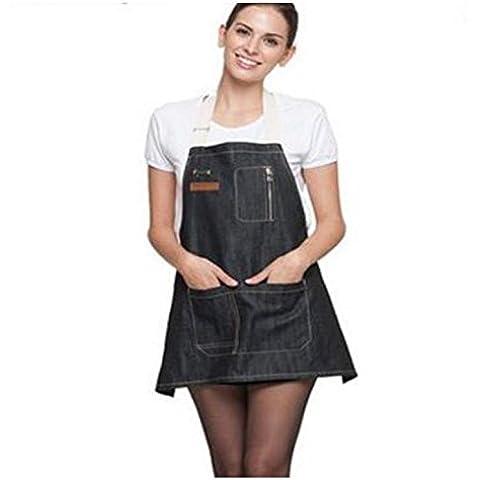 SQL Ropa de trabajo delantales de dril de algodón de moda para hombres y mujeres pintar cocinas de restaurante occidental . c