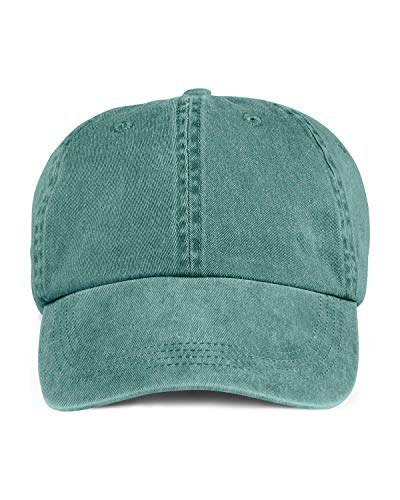 Anvil Womens 6-Panel Pigment-Dyed Twill Cap (145) -PINE -One Panel Twill Cap