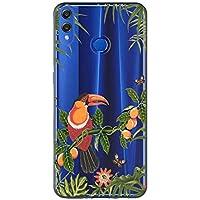 Oihxse Case Transparente Suave TPU Compatible con Huawei Mate 20 Lite Funda [Lindo Caricatura Flor Serie Dibujos] Cristal Protector Carcasa Anti Rasguños Bumper Cover-Loro 1