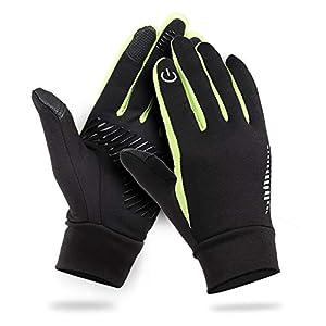 HiCool Winterhandschuhe Herren, Touchscreen Handschuhe Fahrradhandschuhe Anti-Rutsch für Laufen Radfahren Wandern Outdoor Aktivitäten