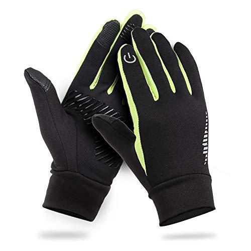 HiCool Touchscreen-Handschuhe, Touch Gloves Smartphone Handschuhe für Radfahren, Motorradfahren, Wandern und andere Outdoor-Aktivitäten (Grün, XL)