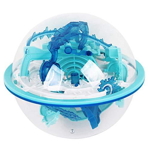 waterfaill WATERFAIL Maze Ball Spiel, 110 Levels 100 Barrieren 3D Labyrinth Magic Intellect Ball, Kinderspielzeug, Rätsel Puzzle Spiel 13cm