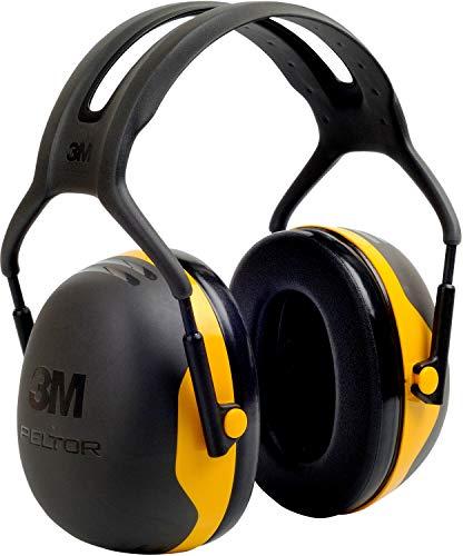 3M X2AC1 Peltor Kapselgehörschützer für Lärmpegel von 94 bis 105 dB, stufenlos verstellbare Kopfbügel,schwarz/gelb