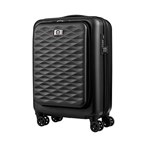 "Wenger Wenger Lumen 20\"" Expandable Hardside Luggage Dual Access - Black Koffer, 54 cm, 42 liters, Schwarz (Black)"
