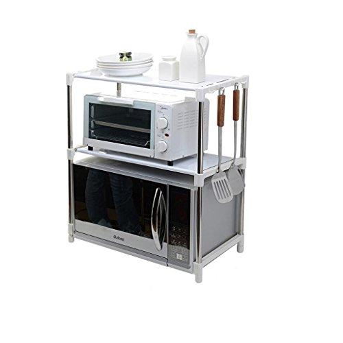 Meuble de cuisine Four à micro-ondes multifonctions ajustable en acier inoxydable réglable Type de repos Double cuisine Supports de stockage wxp-Armoires et armoires de coutellerie