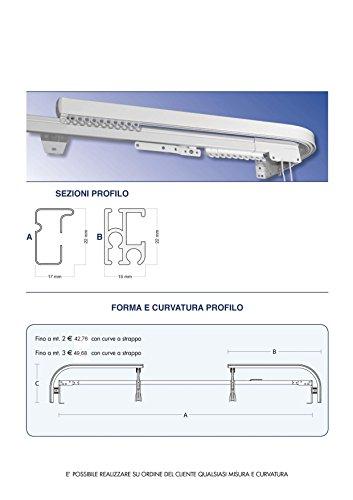 Casa Fiorentina Bastoni Per Tende.Casa Fiorentina Binario In Alluminio Doppio Binario Composto
