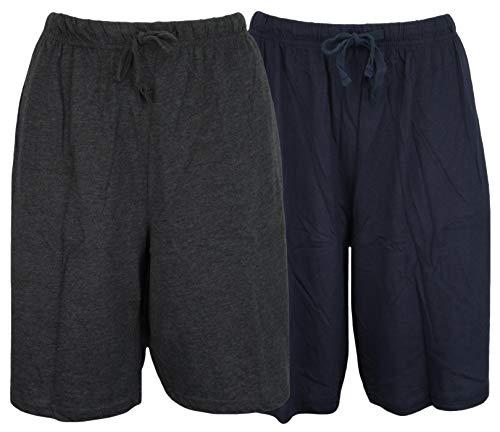 Tom Franks Doppelpack Baumwolljersey Lounge-hosen - Blau Grau, X-Large