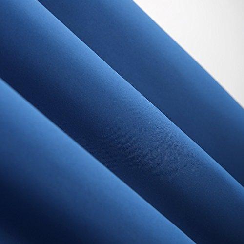 Deconovo Vorhang Verdunkelung Gardinen Blickdicht Verdunkelungsvorhang Schlaufen 245×140 cm Blau 2er set - 5
