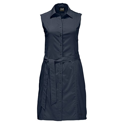 Jack Wolfskin Damen Sonora Dress Kleid, Midnight Blue, XL - Kostbare Schnee Momente