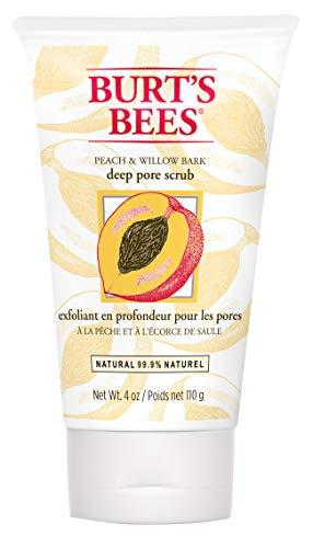 Burt's Bees 100% Natürlich Peeling für tiefe Porenreinigung mit Pfirsich & Weidenrinde, 1er Pack x 110 g