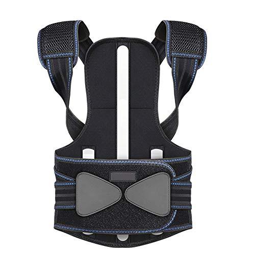 Jian E Cinturón de Apoyo para la Espalda - Ropa correctora de Espalda Columna Vertebral para niños Sentada de Espalda Corrector de Postura Hombres Adultos y Mujeres correctos Anti-jorobada
