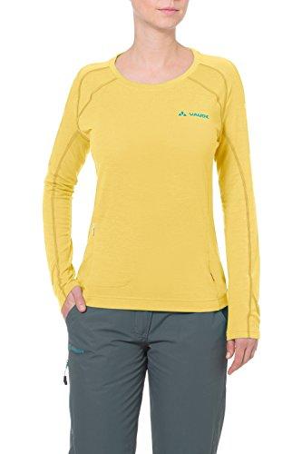 VAUDE Signpost T-Shirt à manches longues pour femmes Giallo - Solar Yellow