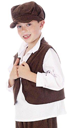 Preisvergleich Produktbild erdbeerloft - Jungen Karnevalskostüm historische Straßenkind Weste , 134, Braun