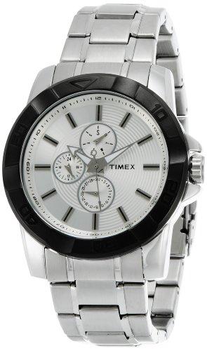 41Guu6s8FML - Timex TI000S40200 E Class Silver Mens watch