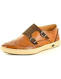 75604c718330 Men s Retro Monk Strap Slip On Formal Casual Loafer Brogue Shoes UK Sizes  7-11