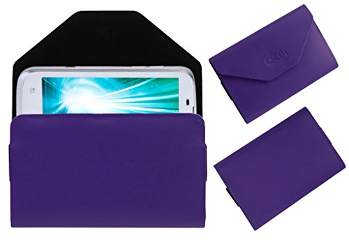 Acm Premium Pouch Case For Lava Xolo A800 A-800 Flip Flap Cover Holder Purple  available at amazon for Rs.179