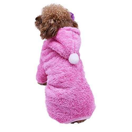 Allegorly Sweater für Hunde Haustier Hund Katze Welpen Kapuzenjacke Hoodie Winter Warme Kleidung Plüsch Pullover Sweatshirt Jacke Mantel Overall Jumpsuit Bekleidung -