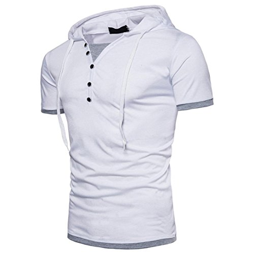 Kanpola Oversize Herren Shirt Slim Fit Sweatshirt Kapuzenpullover Hoodie Kapuze T-Shirt Tee Top